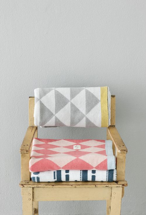 Harlequin Knitted Cotton Blanket: Ferm Living, Fermliving, Chair, Pattern, Baby, Blankets, Kid
