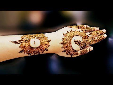 Gulf henna design #1 | henna design for eid 2017 - YouTube