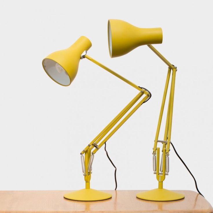 Esteemed British designer Margaret Howell, a long-term champion of modernism and admirer of the Anglepoise®, has precisely colour- matched this desk lamp in matte yellow ochre to an original 1970's Anglepoise® lamp in her possession.​ PLEASE NOTE BACK IN STOCK FEBRUARY 2016 Click here for the floor lamp.