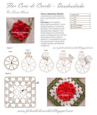 Patron Crochet Flor Petalos en Relieve - Patrones Crochet