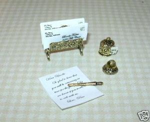 Miniature Brooke Tucker Victorian Desk Set Dollhouse Miniatures 1 12 Scale | eBay