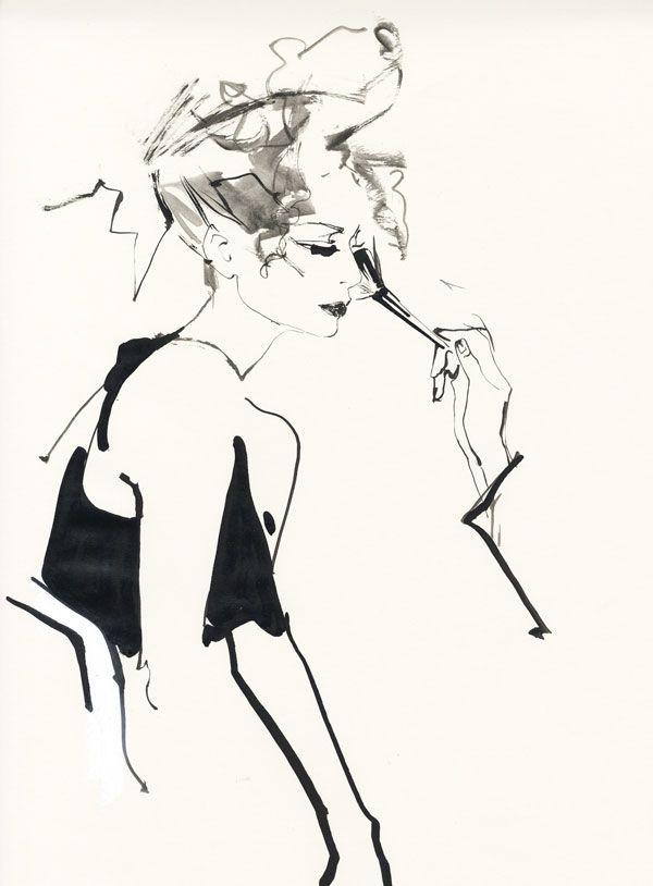 David Downton fashion illustrations