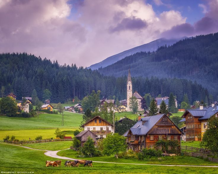 Awesome Peaceful idyll in the mountain village of Gosau Austria by Robert Sch ller px