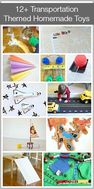 12+ Transportation Themed Homemade Toys via Buggy and Buddy