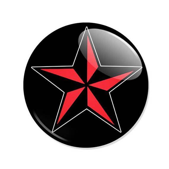 Badge ETOILE NAUTIQUE ROUGE Red Star motif tattoo old school