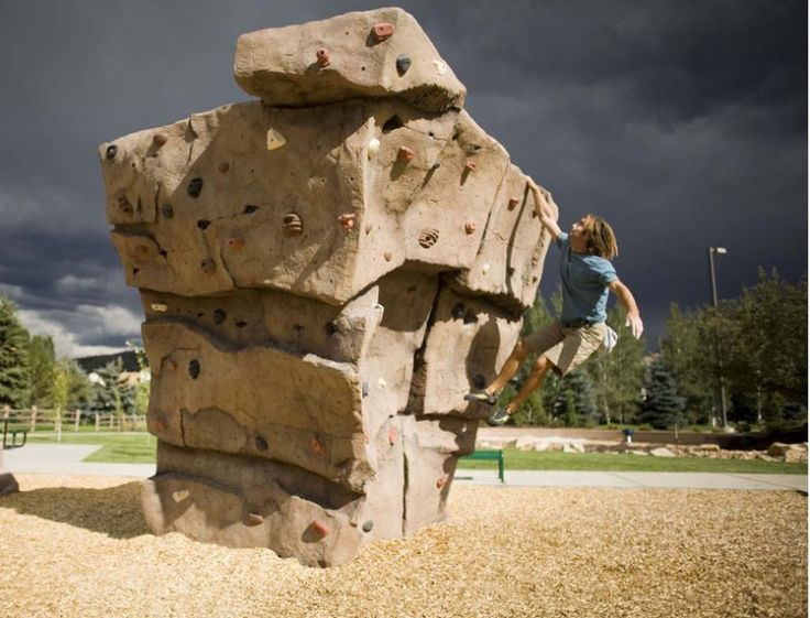 Climbing Wall Kids Outdoor Natural Playgrounds