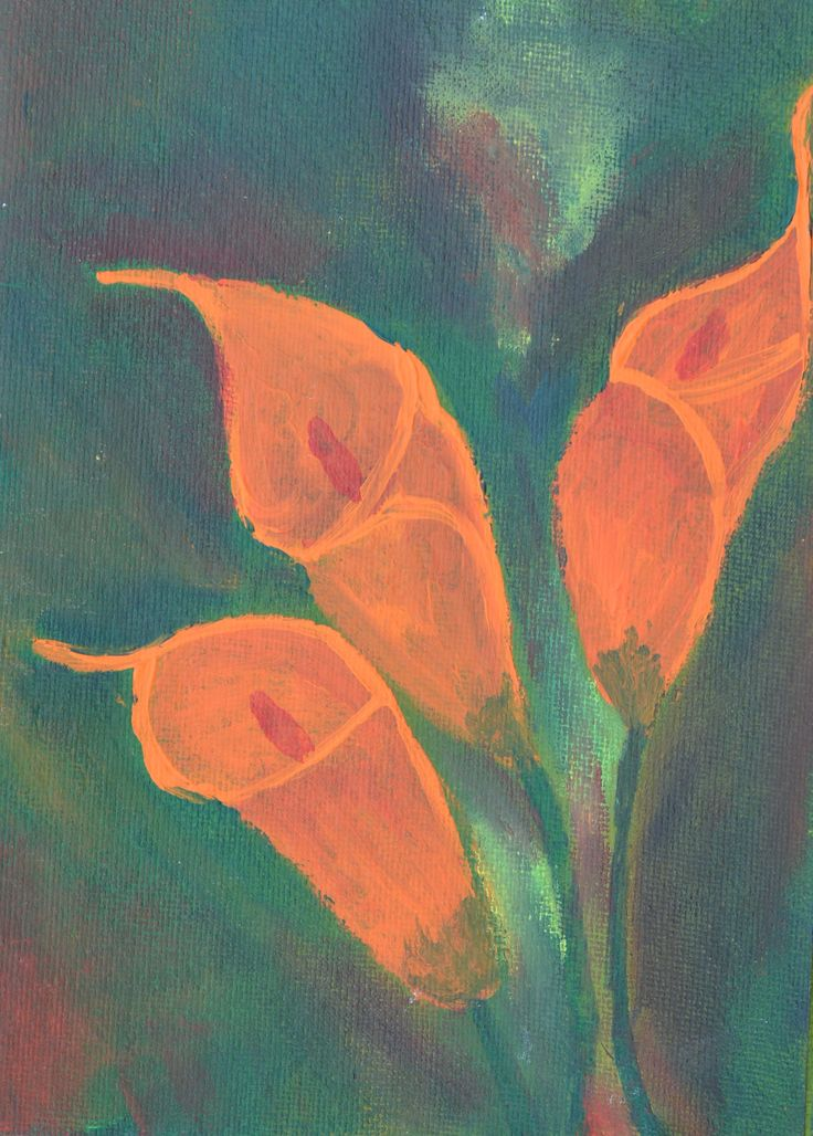 Abstract Flower on Card