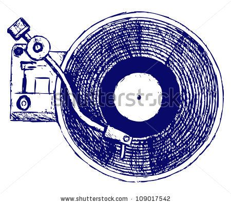 record player drawing - Google Search