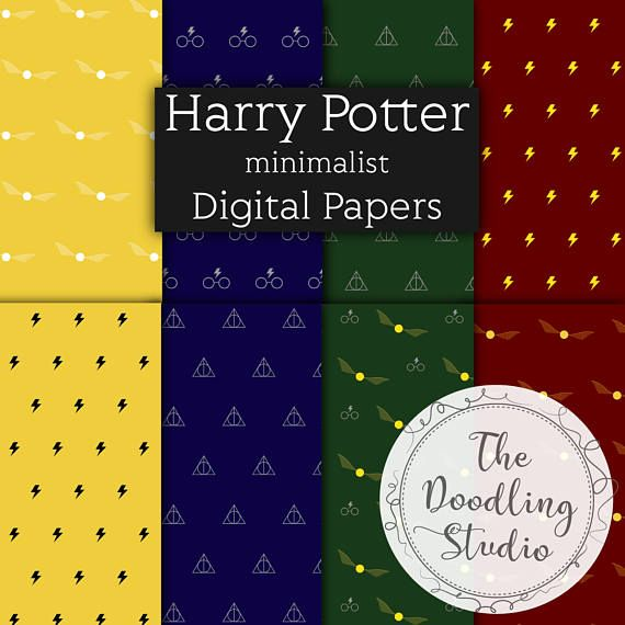 "⚡ Harry Potter minimalist Digital Papers - jpeg, 300 dpi , 16 designs ⚡ The pack includes: 16 images in jpeg format. Size: 12"" x 12"" in 300dpi (3600 x 3600px). Ready to print. You will receive 2 Zip files on your download. Once your payment is processed you will receive an email #gifting #digitalpaper #wrappingpaper #harrypotter #deathlyhallows"