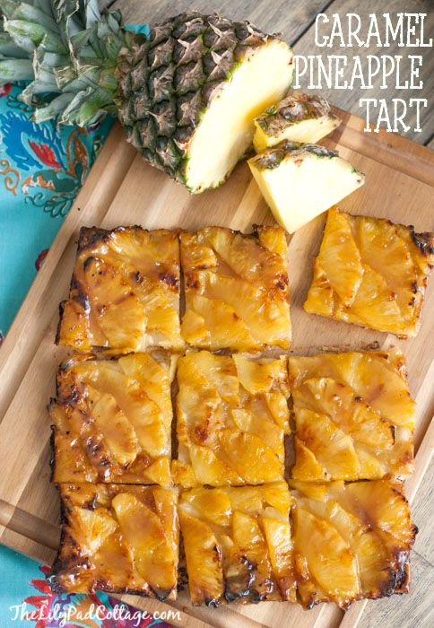 Pineapple Tart - so easy to make just puff pastry, pineapple, brown sugar and butter!