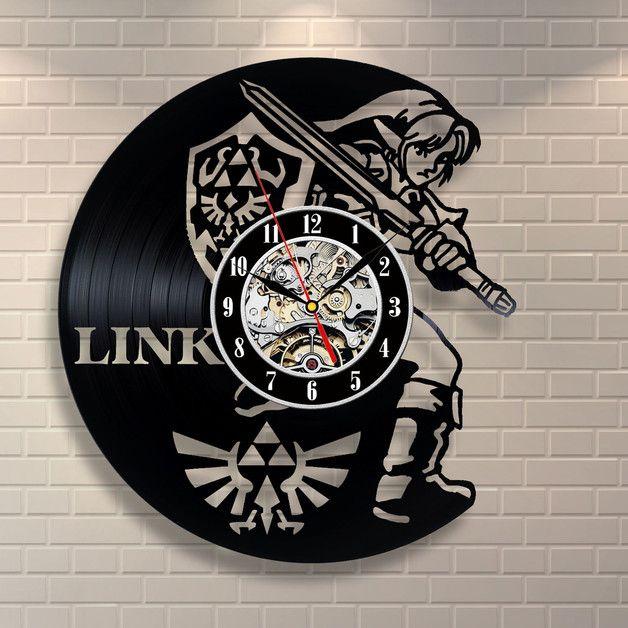 Uhren - Zelda Art Vinyl Wanduhr Geschenk Raum Modern Home - ein ...