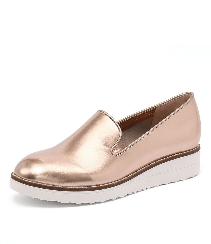 This casual shoe will add an athletic edge to your everyday ensembles. The contrasting sole is right on trend and the shape will work wonders with denim jeans, knit pants, and pleated skirts.   Shop 'Onset Rose Gold' by I Love Billy at styletread.com.au