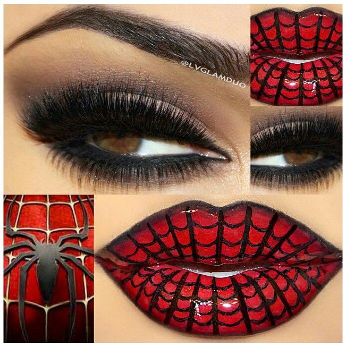Spider-Man Halloween makeup