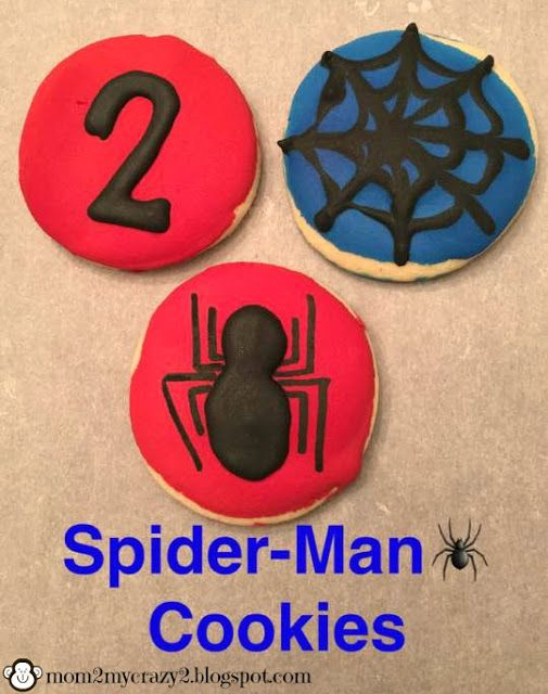 Running away? I'll help you pack.: Spider-Man Cookies .. Spider & Spiderweb Cookies (Royal Icing)