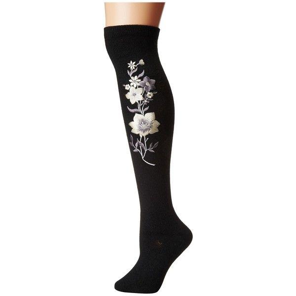da9e9e9e6 Free People Embroidered Tall Sock (Black) Women s Thigh High Socks ( 24) ❤