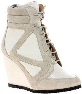 Bej detaylı MP bayan topuklu spor ayakkabı modelleri