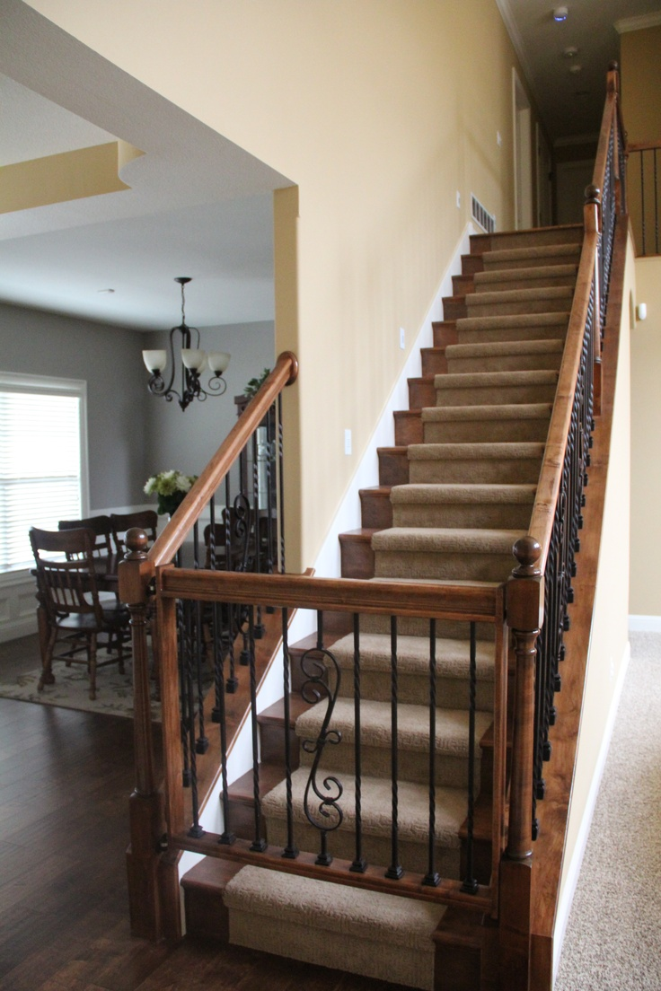 Custom wood baby gate for upstairs completed house for Custom stair