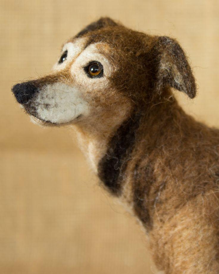 Bailey The Shepherd Coonhound Needle Felted Animal