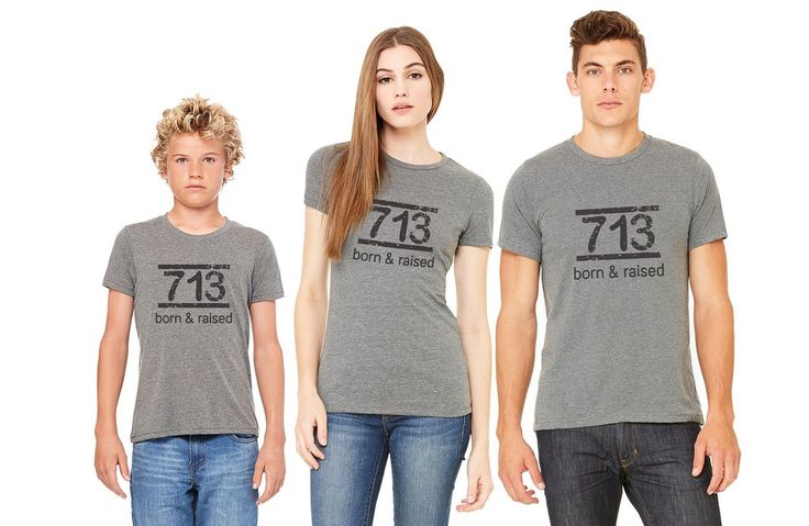 Born and Raised 713 Tee Shirt- PreSale order by Dec 3rd for Christmas Delivery