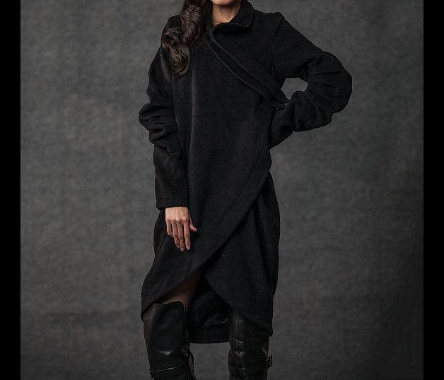 Warme Jacken - Wintermantel für Frauen schwarze Jacke (070) - ein Designerstück von Lu-yahui bei DaWanda
