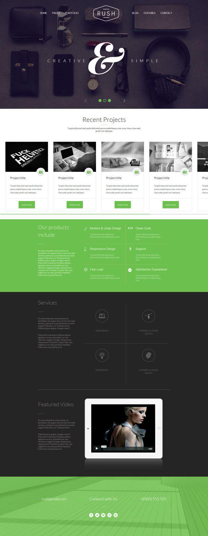 Rush - Multipurpose Creative Responsive Website on Web Design Served