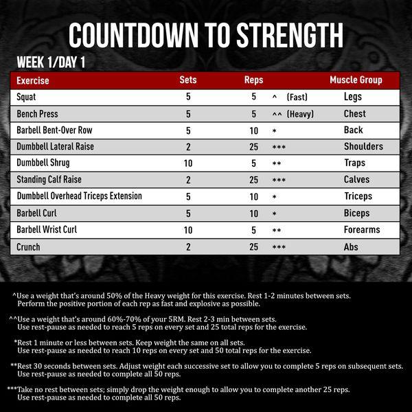 5 Week Strength And Muscle Building Training Program On Jimstoppani Com Strength Program Full Body Training Muscle