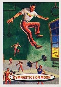 Space Cards #59: Gymnastics on Moon