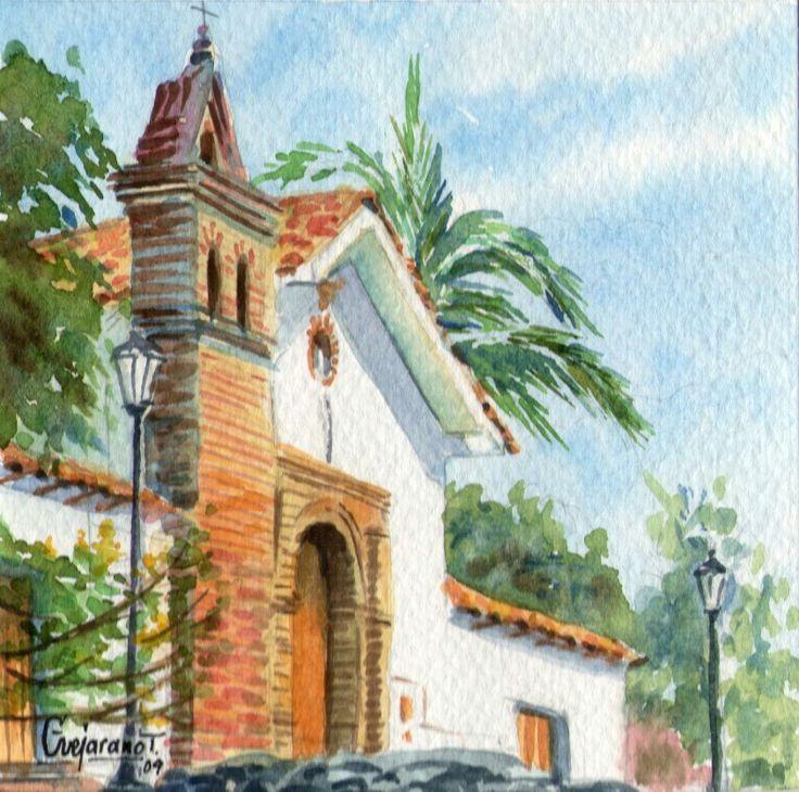 San Antonio - Serie Cali Bella. Acuarela ~ Gerardo Vejarano T.