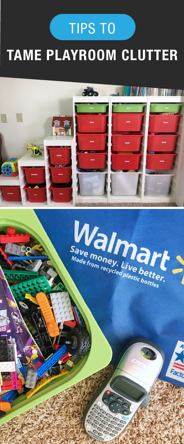 Playroom organization strategies—yes please! If you're currently dealing with kids' toy clutter, see how the affordable DYMO® LetraTag™ Personal Label Maker from Walmart can help bring order to even the trickiest of spaces. Once you have a storage technique that works for you, you won't ever want to go back! Plus, these tips are a great way to get a jump on seasonal cleaning.