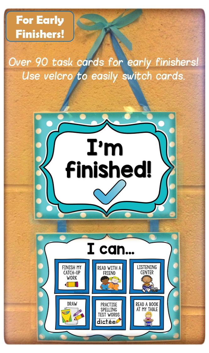 This classroom display is your answer to preventing early finishers from distracting other students while keeping them engaged and productive. Choose from 32 premade cards, 30 wordless cards, or personalize your own with 18 ready to make cards and blank cards. Very customizable!