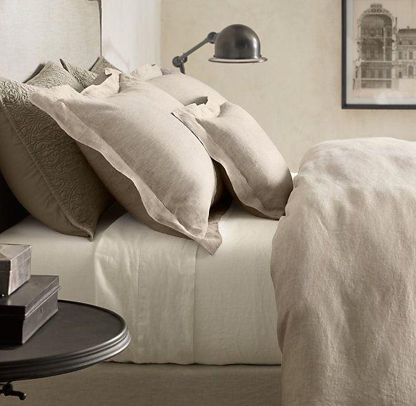 Linen duvet master bedrooms and linen sheets on pinterest for Duvet covers restoration hardware