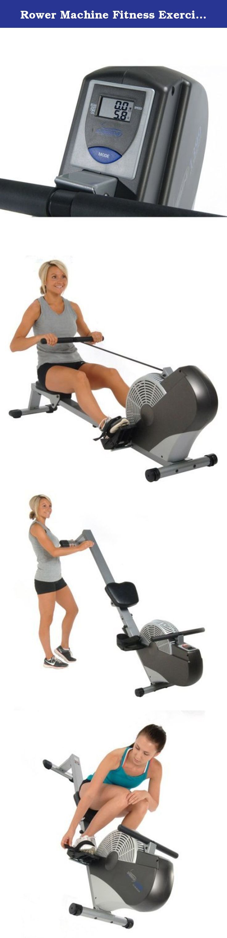 Rower Machine Fitness Exercise Cardio Workout Training Home Gym Equipment Body Glider Solid steel Construction Rower Machine 5 Levels Resistance Comfortable, Stitched Seat Foam Hand Grips Build Muscle. Efficient wind resistance for smooth rowing stroke Multi-function electronic performance monitor displays speed, distance time and calories burned The exercise rower has a comfortable, padded, upholstered seat Large footplates for any size user Adjustable nylon foot straps Over-sized seat…