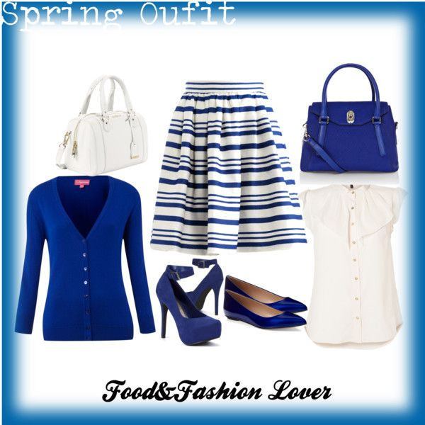 """blue and white"" by homeyyomey on Polyvore"