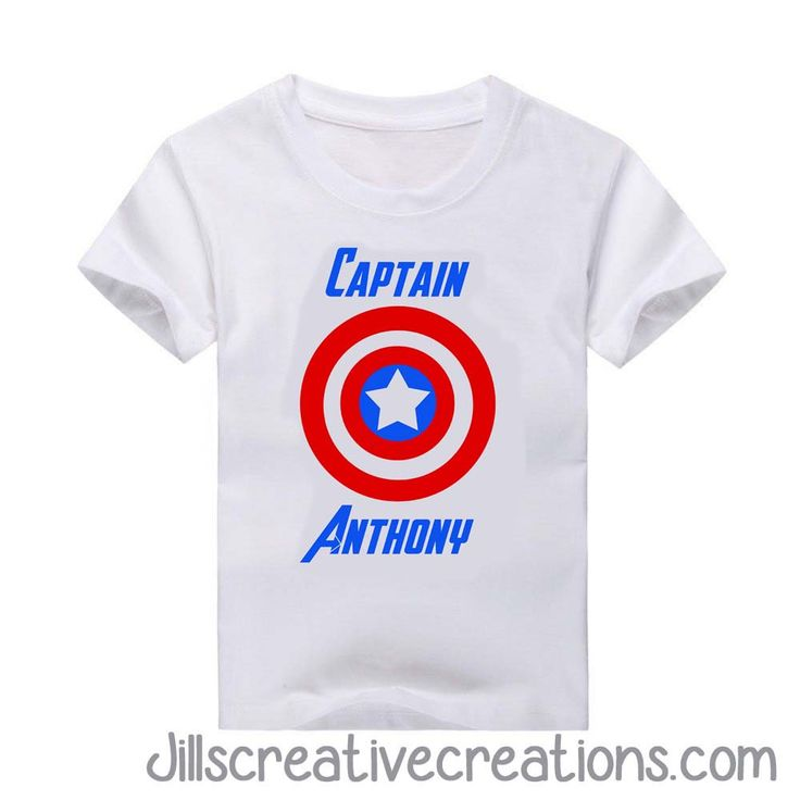 Captain America T-Shirt, Personalized