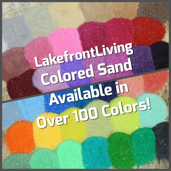 Colored Sand for Wedding Sand Unity Ceremony  2 by LakefrontLiving