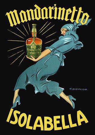 Mandarinetto Isolabella  by Dudovich  1946 http://www.vintagevenus.com.au/vintage/reprints/info/D371.htm
