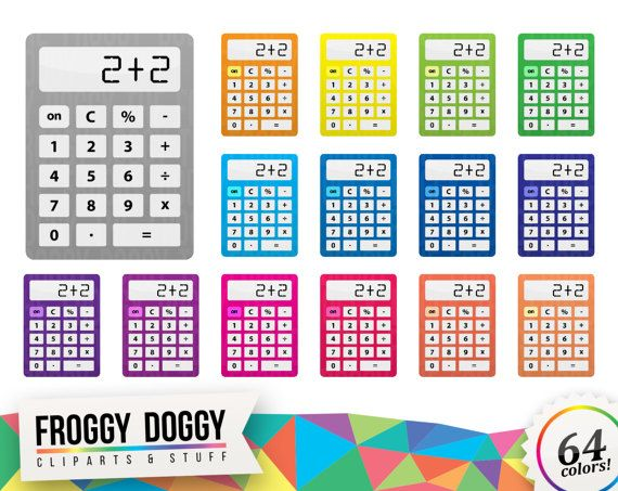 Calculator Clipart, Classroom Clipart, Office Clipart, Math Clipart, Office Supplies, Planner Clipart, Scrapbooking Cliparts
