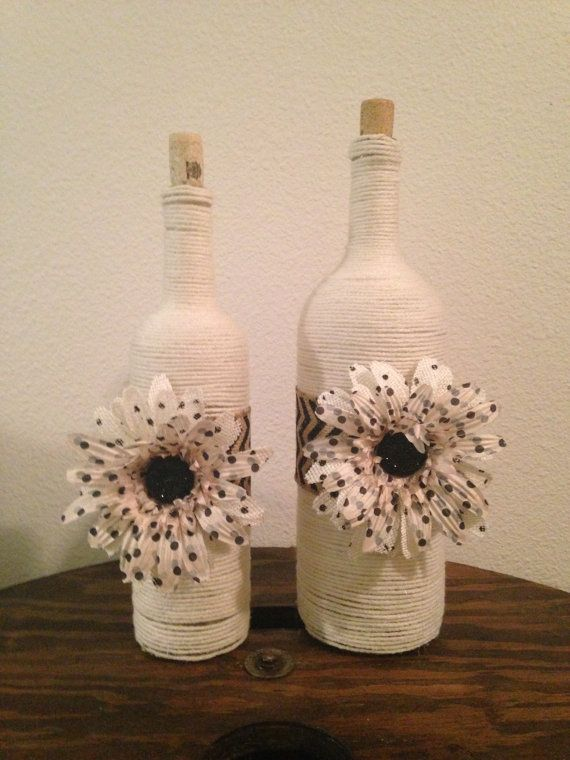Hey, I found this really awesome Etsy listing at https://www.etsy.com/listing/170736419/yarn-wrapped-wine-bottle-with-burlap
