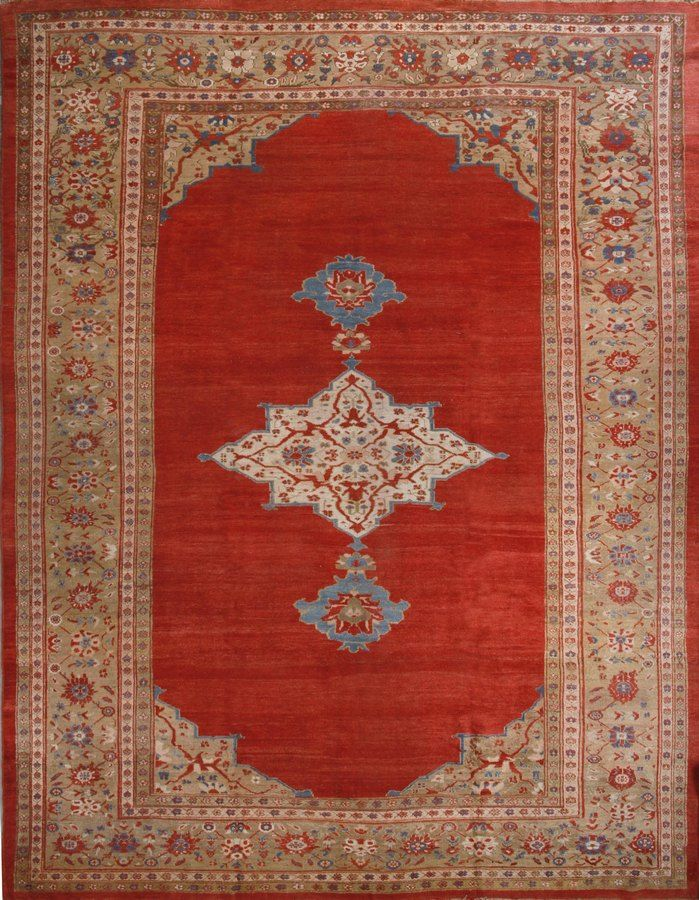Antique Sultanabad 12 X 15 Traditional Persian Red And Beige Rug Beige Rug Rugs Carpet Companies