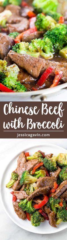 Chinese Beef with Broccoli - a quick and easy stir fry recipe made with short rib meat, vegetables, and a delicious sauce. via @foodiegavin
