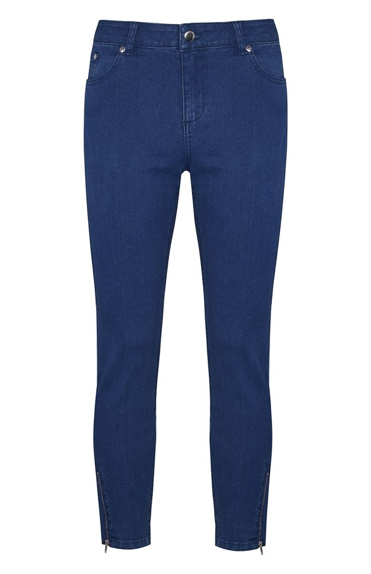 Primark - Blue Zip-Ankle Jeans