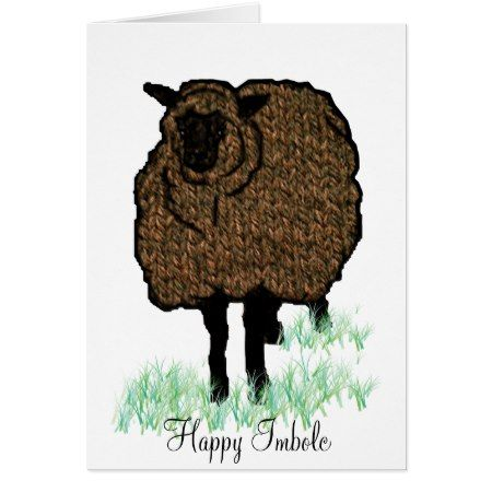 Imbolc Knitted Sheep Card - click to get yours right now!