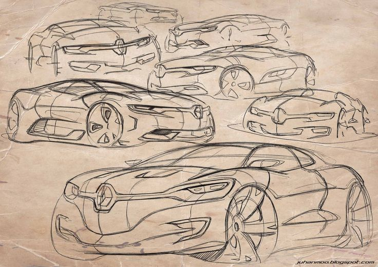Car design sketches - by Juhan Kim Renault