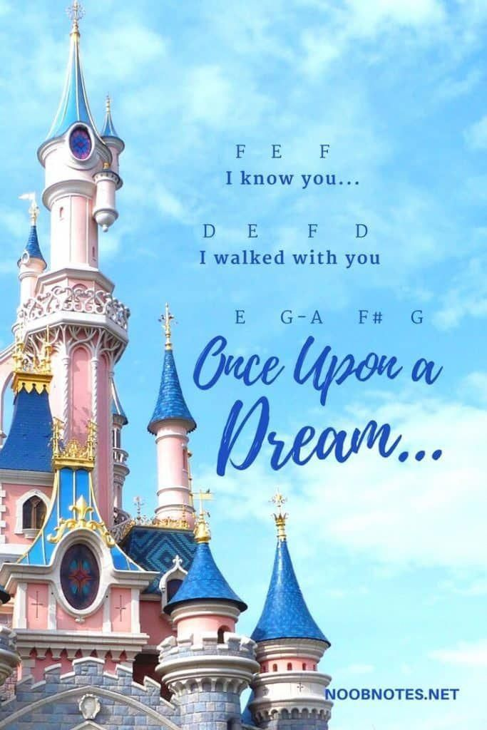 Once Upon A Dream Sleeping Beauty Disney Letter Notes For