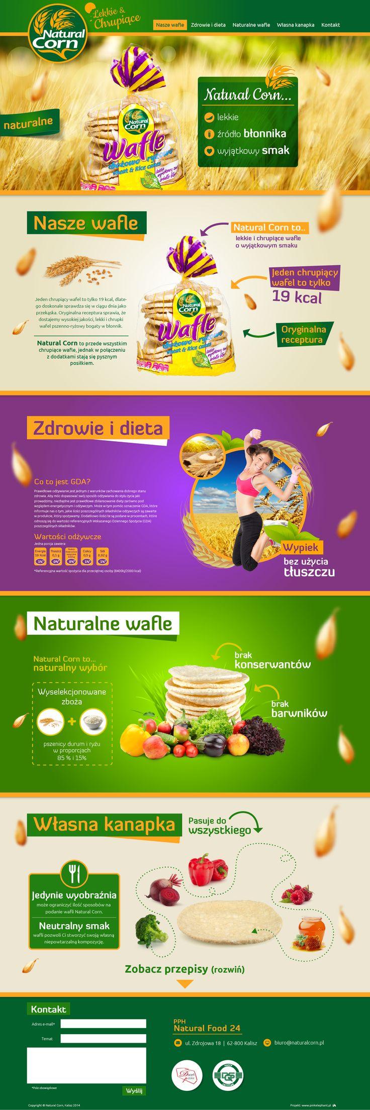 Website for Natural Corn   Design: www.pinkelephant.pl /web design /layout /portfolio /web /design