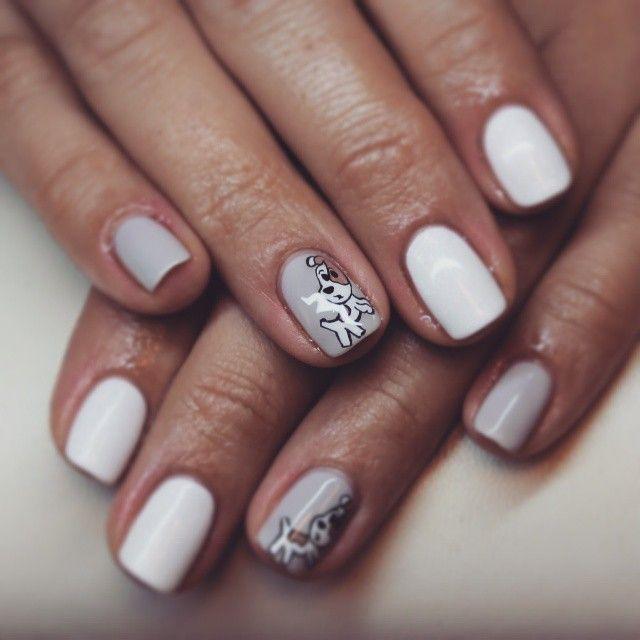 #Reksio #nailstagram #nails #nailpolish #nailart #art #cute #pastel #nails #mani #manicure #shellac #cndshellac #ekertnails #paznokcie #hybryda #wzorki