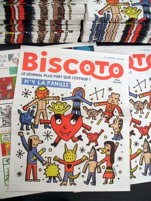 Cover Biscoto #4 / La Famille by Pablo Delcielo, via Behance