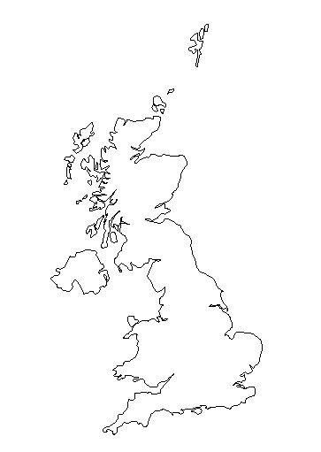 Outline map of the United Kingdom
