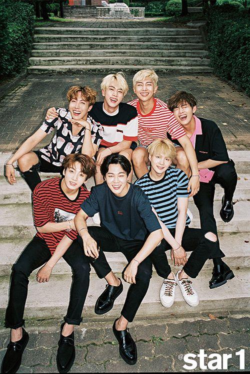 BTS (J-Hope, Jin, RapMonster, V, Jung Kook, Jimin, Suga)