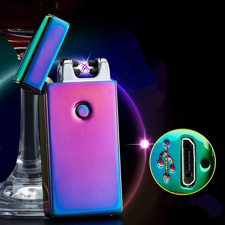 Di alta Qualità Croce Doppio Arco Plasma Pulse USB Accenditore Antivento del Metallo Più Leggero Sigaretta Elettronica Più Leggero Regali-BSG307